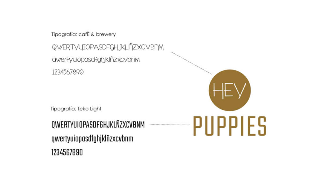 logotipo identidad hey puppies